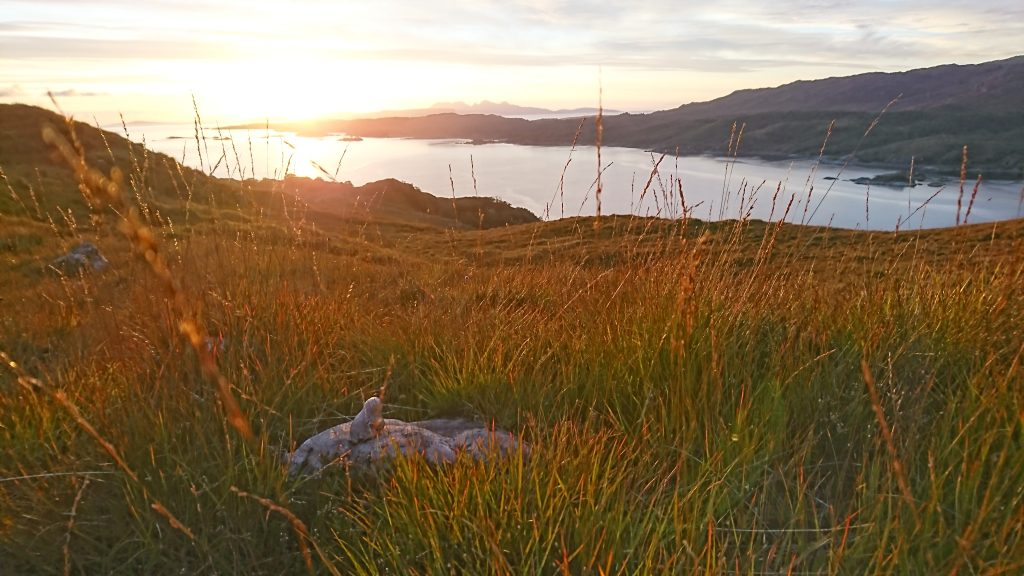Nina is mesmerised by sundown over the Small Isles