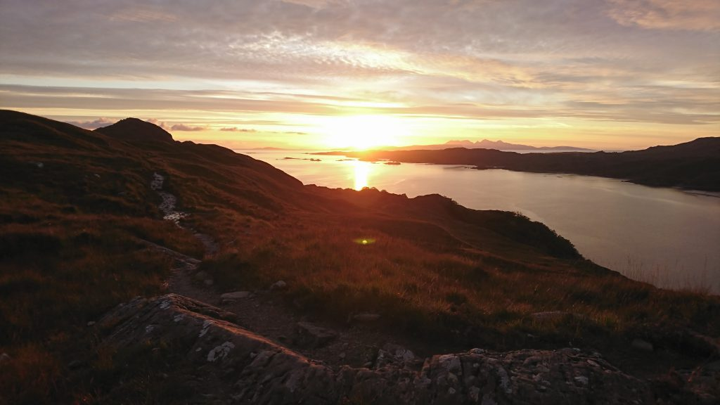 Exquisite sundown over the Small Isles
