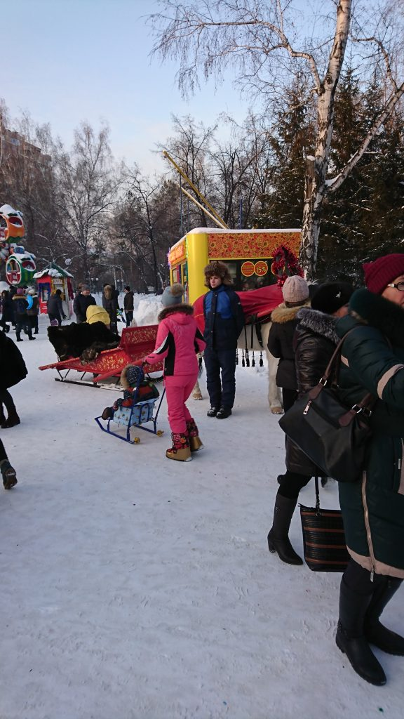 Making the most of winter in Central Park, Novosibirsk